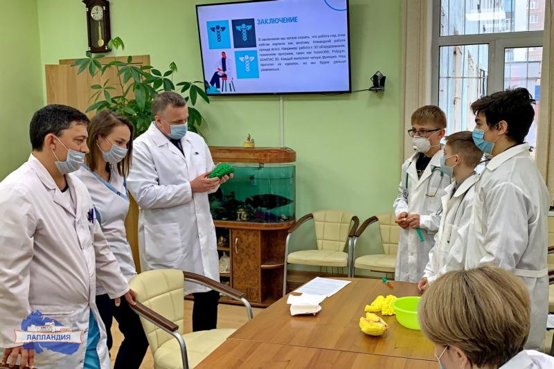 Кванторианцы презентовали свой проект специалистам в Мурманском областном клиническом многопрофильном центре